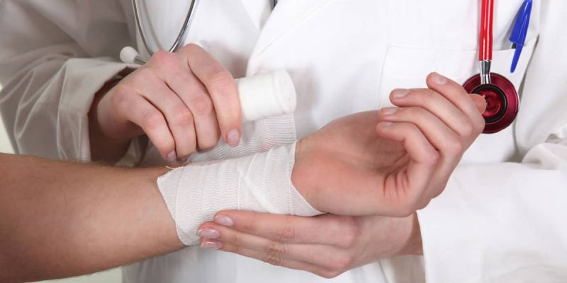 Burn Victim Seeking Medical Attention