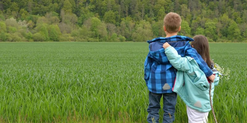 Children Playing in Field