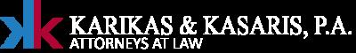 Karikas Kasaris Logo White