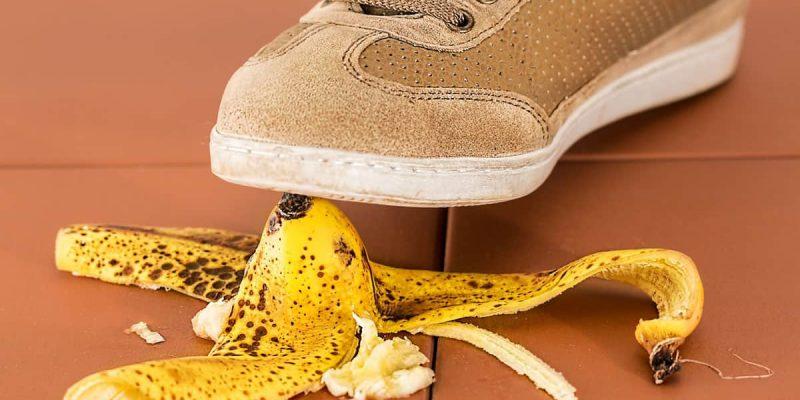 Tennis-Shoe-Stepping-on-Banana-Skin