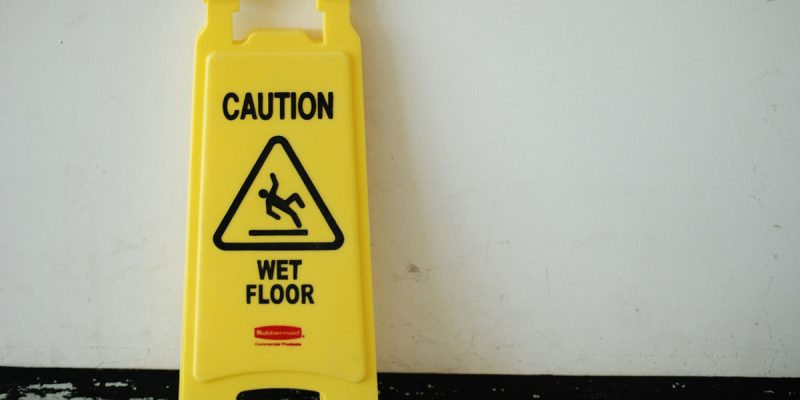 Wet Floor Posted Sign