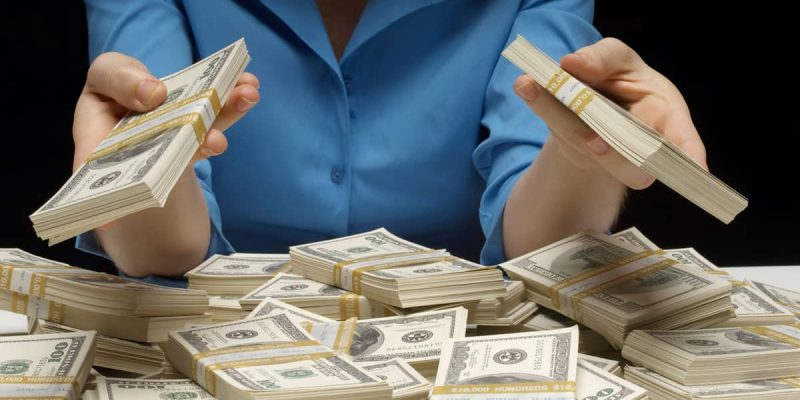 Lady Counting Cash Money